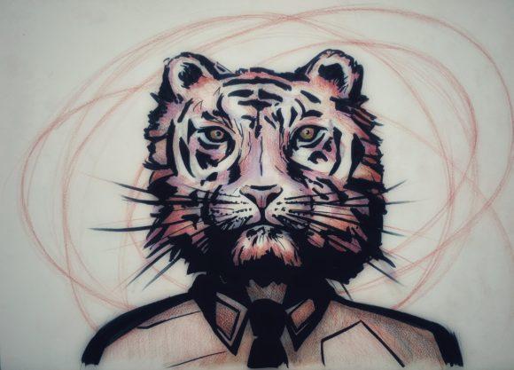 coach de vie paris dessin de tigre